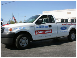 Parker Ford Body Shop Truck