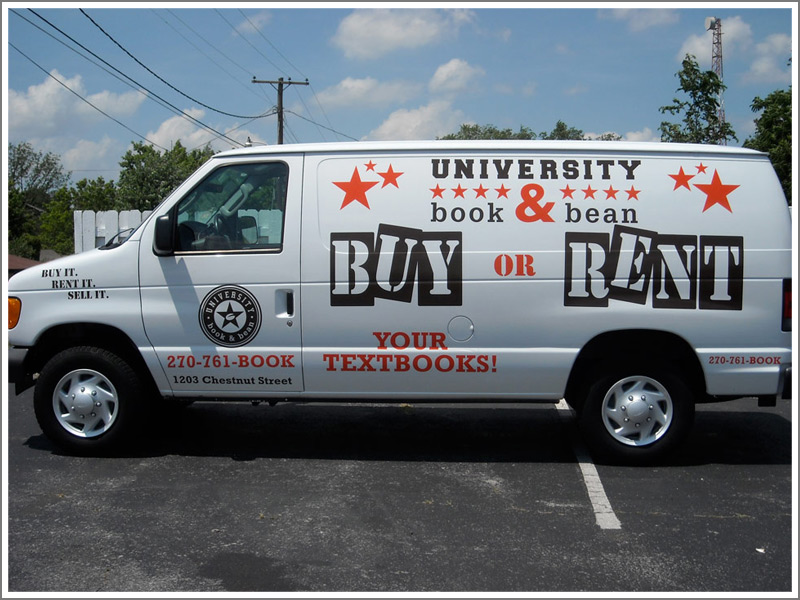 university book bean this vehicle lettering