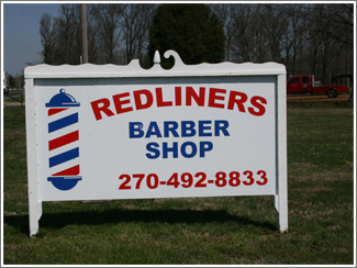 Redliners Barber Shop Sign