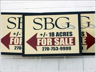 SBG Corrugated Yard Signs